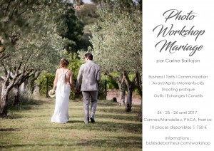 invitation photo workshop mariage carine battajon